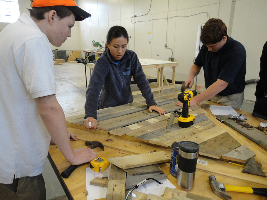 #1 - Emily Pilloton with Studio H students CJ Robertson and Stevie Mizelle. From IF YOU BUILD IT, a Long Shot Factory Release 2013_small