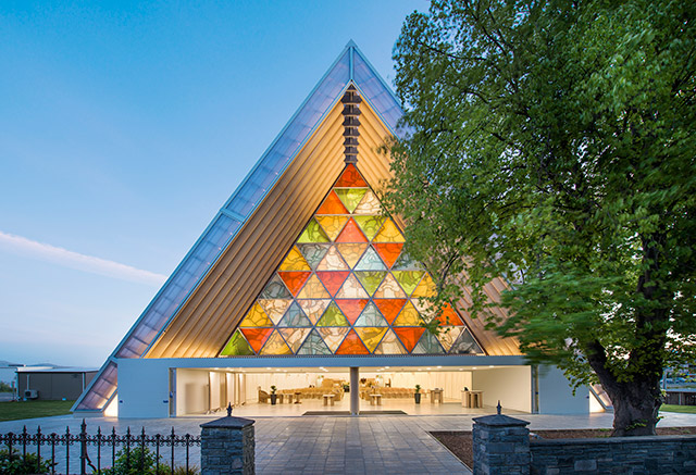 Cardboard Cathedral, Christchurch, New Zealand, 2013  Photo by Stephen Goodenough